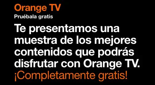 1 mes gratis de Orange TV