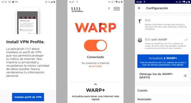 WARP para Android