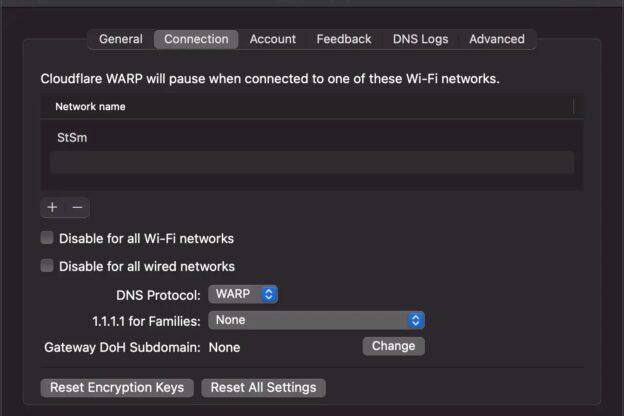 Configuración de Warp en macOS