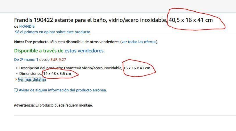 Amazon y sus errores en las descripción de producto 37461fda376