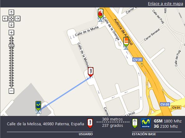 Mapa De Cobertura Yoigo.Mapa Con La Ubicacion De Las Antenas De Telefonia Movil De