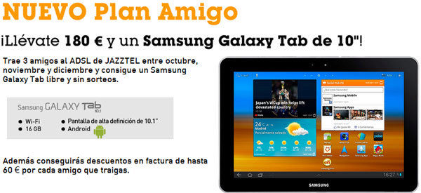 Plan Amigo Galaxy Tab