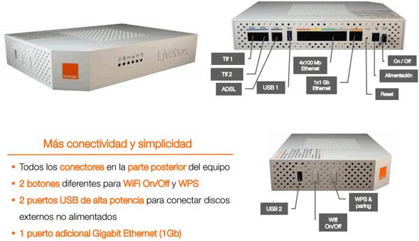 orange lanza una versi n mejorada del router livebox. Black Bedroom Furniture Sets. Home Design Ideas
