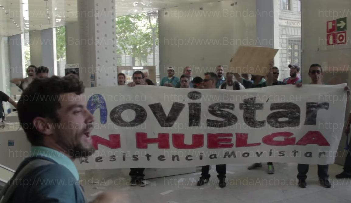 Huelga de trabajadores de Movistar en MWC