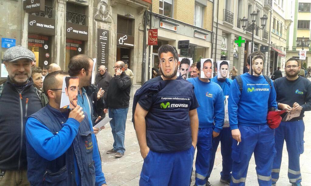 Huelga de contratas de Movistar